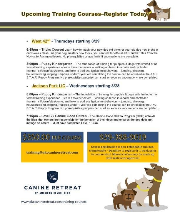 Training Courses - AKC Canine Retreat